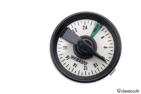 Vintage Webasto heater timer clock