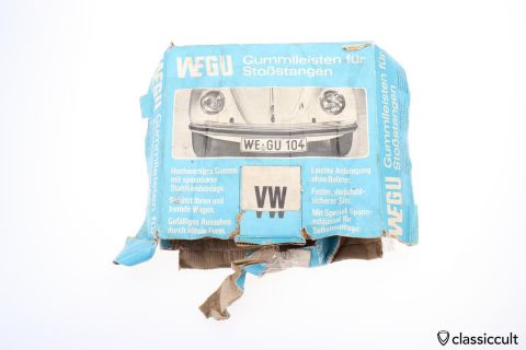 WEGU Rubber Mouldings VW Beetle 1968 Bumpers NOS