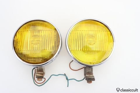 Yellow Bosch fog lights 170mm K11108
